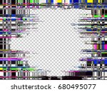 glitch background. computer... | Shutterstock .eps vector #680495077