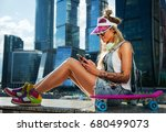 summer lifestyle image of...   Shutterstock . vector #680499073