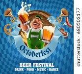 oktoberfest beer party   Shutterstock .eps vector #680503177
