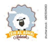 eid al adha mubarak poster ... | Shutterstock .eps vector #680504083