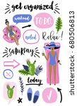 signs and symbols for organized ... | Shutterstock .eps vector #680506813