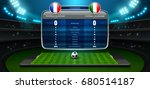 mobile football live with... | Shutterstock .eps vector #680514187