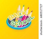back to school vector label... | Shutterstock .eps vector #680517727