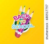 back to school vector label... | Shutterstock .eps vector #680517757