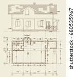 the author's architectural... | Shutterstock .eps vector #680535967