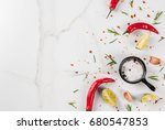 cooking food background  white... | Shutterstock . vector #680547853