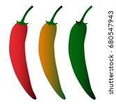 vector colorful vegetables set... | Shutterstock .eps vector #680547943