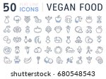 set of line icons in flat... | Shutterstock . vector #680548543