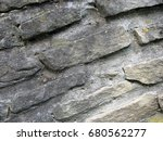 old stone wall. fragment of... | Shutterstock . vector #680562277