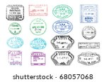 vector collection of various... | Shutterstock .eps vector #68057068