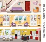 set of colorful modern vector... | Shutterstock .eps vector #680572513