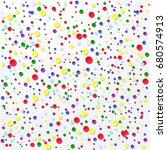 bright colored confetti... | Shutterstock .eps vector #680574913