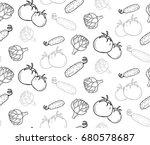 black and white outline... | Shutterstock .eps vector #680578687