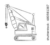 crane construction isolated icon | Shutterstock .eps vector #680581387