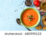 Summer Cold Soup Gazpacho With...