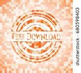 free download orange mosaic...