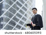 happy graduate man wearing... | Shutterstock . vector #680605393