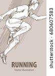 hand sketch of a running man....   Shutterstock .eps vector #680607583