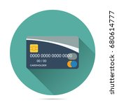 front view credit card vector... | Shutterstock .eps vector #680614777