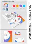 business corporate identity... | Shutterstock .eps vector #680621707