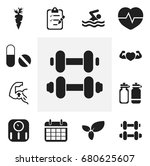 set of 12 editable sport icons. ... | Shutterstock .eps vector #680625607