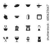 set of 16 editable restaurant...