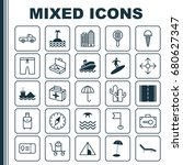 travel icons set. collection of ... | Shutterstock .eps vector #680627347