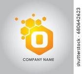 hexagon letter o logo design... | Shutterstock .eps vector #680642623