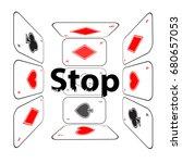stop gambling addiction. danger ...   Shutterstock .eps vector #680657053