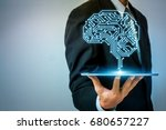 ai  artificial intelligence ... | Shutterstock . vector #680657227