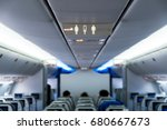 sign in a airplane | Shutterstock . vector #680667673
