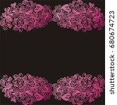 beautiful romantic background...   Shutterstock .eps vector #680674723