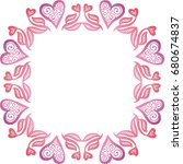 beautiful romantic frame of...   Shutterstock .eps vector #680674837