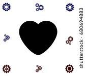 heart icons vector flat design...   Shutterstock .eps vector #680694883