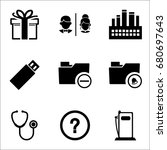 set of 9 miscellaneous icons... | Shutterstock .eps vector #680697643