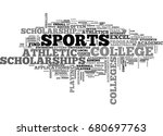 athletic scholarships text word ... | Shutterstock .eps vector #680697763