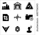 set of 9 miscellaneous icons... | Shutterstock .eps vector #680706043