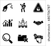 set of 9 miscellaneous icons... | Shutterstock .eps vector #680706787