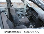 horrible dangerous car wreck... | Shutterstock . vector #680707777