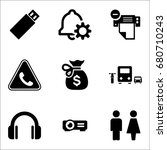 set of 9 miscellaneous icons... | Shutterstock .eps vector #680710243