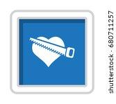 heart icon vector flat design...   Shutterstock .eps vector #680711257