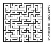 abstract maze   labyrinth with... | Shutterstock .eps vector #680718997