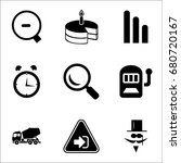 set of 9 miscellaneous icons... | Shutterstock .eps vector #680720167