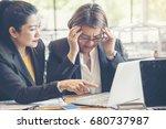 stress businesswoman was... | Shutterstock . vector #680737987