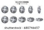 game 3d silver coin vector with ...