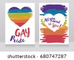 banners for gay love with... | Shutterstock .eps vector #680747287