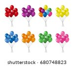 bunches of colorful helium... | Shutterstock .eps vector #680748823