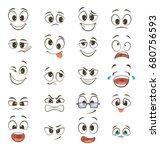 Cartoon Happy Faces With...