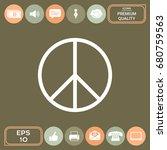 peace sign | Shutterstock .eps vector #680759563