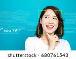 facial recognition system... | Shutterstock . vector #680761543